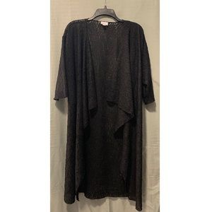 Lularoe Long Black Cardigan